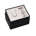 Ladies Swarovski Crystal Two-Tone Watch & Loop Necklace Product Image