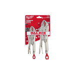 """2pc Curved Jaw Locking Pliers 7"""" & 10"""" Product Image"""