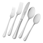 65pc Alcea 18/10 Stainless Steel Flatware Set Product Image