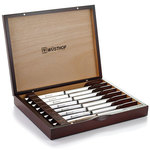 8 Piece Stainless Steel Steak Knife Set w/ Wooden Gift Box Product Image