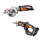 "20V Axis Recip Jig Saw & 4.5"" Worxsaw Circular Saw Kit Product Image"