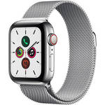 Watch Series 5 (GPS + Cell, 40mm, Stainless Steel, Stainless Steel Milanese Loop) Product Image