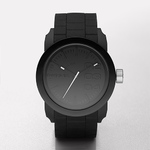 Mens Double Down Black Silicone Watch Black Dial Product Image