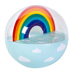 Luxe XL Inflatable Beach Ball Rainbow Product Image