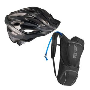 Solstice Adult Bicycle Helmet plus Rogue Biking Hydration Pack Package Product Image
