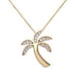Palm Tree Diamond Necklace Product Image