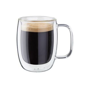 Sorrento Plus 2-Piece Double-Wall Glass Double Espresso Mug Set Product Image