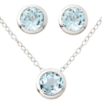 Blue Topaz Earring & Necklace Set Product Image