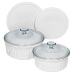 French White 6pc Round Bakeware Set Product Image