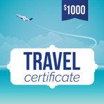 Online-Rewards travel voucher $1000