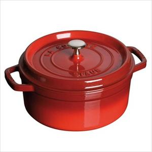Cast Iron 5.5 Qt. Round Cocotte  - Cherry Product Image