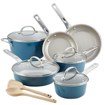 Home Collection 12pc Aluminum Cookware Set Twilight Teal Product Image