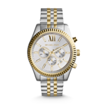 Michael Kors Mens Lexington Silver and Gold-Tone Watch Product Image
