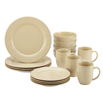 Cucina 16pc Stoneware Dinnerware Set Cream Product Image