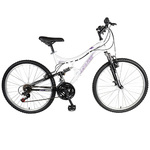 "Ladies Orchid 26"" Full Suspension Mountain Bike Product Image"