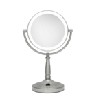 Zadro Cordless Dual-Sided LED Lighted Round Vanity Mirror 10X/1X Product Image