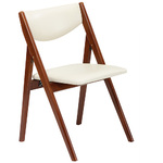 Comfort Folding Chair Cherry/White - Set of 2 Product Image