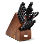16pc Gourmet Knife Block Set Walnut Product Image