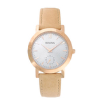 Ladies Classic Sand Leather Strap Watch Gray Dial Product Image