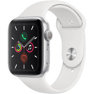 Watch Series 5 (GPS Only, 44mm, Silver Aluminum, White Sport Band) Product Image