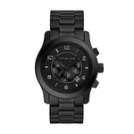 Mens Runway Black Ion-Plated Stainless Steel Watch Product Image
