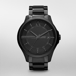 Mens Hampton Black Ion-Plated Watch Black Dial Product Image