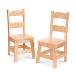 Wooden Chair Pair Natural - Ages 3-8 Years Product Image