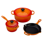 5pc Signature Cast Iron Cookware Set Flame Product Image