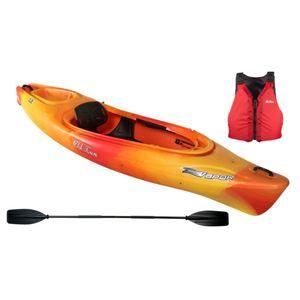 Vapor 10 Recreational Kayak & Accessories Package - Sunrise Product Image