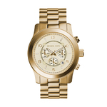 Mens Runway Gold-Tone SS Chronograph Watch Champagne Dial Product Image