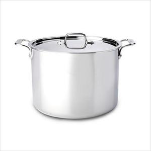 D3 Stainless Steel 12 Qt. Stock Pot with Lid Product Image