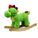 "24"" Green Plush Rocking Dinosaur Product Image"
