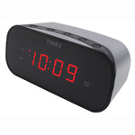 """Alarm Clock with 0.7"""" Red Display Silver Product Image"""