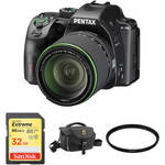 K-70 DSLR Camera with 18-135mm Lens and Accessories Kit (Black) Product Image