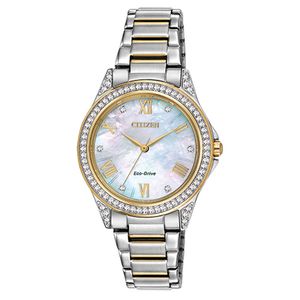 Ladies POV Eco-Drive Two-Tone Watch Mother-of-Pearl Dial Product Image