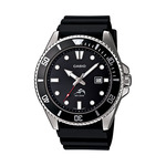 Analog Sports Dive Watch Black Resin Band Product Image