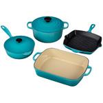 6pc Signature Cast Iron Cookware Set Caribbean Product Image
