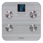 HealthStation Dual Line Body Fat Bathroom Scale Silver Product Image