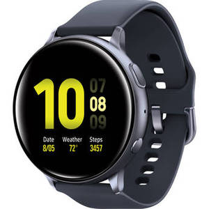 Galaxy Watch Active2 Bluetooth Smartwatch (Aluminum, 40mm, Aqua Black) Product Image