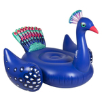 Luxe Ride-On Inflatable Pool Float Peacock Product Image