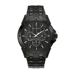 Mens Black Ion-Plated Stainless Steel Watch Black Dial Product Image