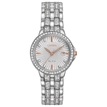 Womens Silhouette Diamond Eco-Drive Watch Two-Tone Dial Product Image