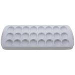 "8"" x 16.25"" Stoneware Deviled Egg Platter White Product Image"