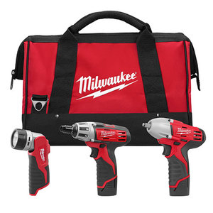 M12 Hex Screwdriver Impact Wrench & Work Light Combo Kit Product Image