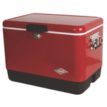 54 Qt Red Steel Belted Cooler Product Image