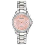 Womens Silhouette Swarovski Crystal Eco-Drive Watch Pink Dial Product Image