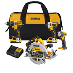 20V Max XR 4 Tool Kit - Drill/Impact Driver/Circular Saw/Worklight Product Image