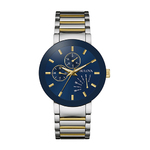 Mens Classic Two-Tone Watch Blue Dial Product Image