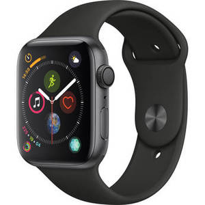 Watch Series 4 (GPS Only, 44mm, Space Gray Aluminum, Black Sport Band) Product Image