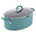 8qt Cucina Hard Enamel Pasta Pot w/ Pour Spout Agave Blue Product Image